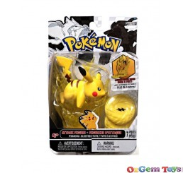 Pokemon Attack Figure Pikachu Electric Type