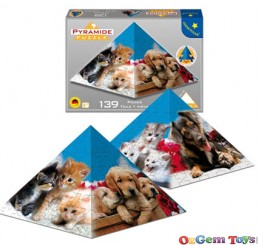 Puppies & Kittens Pyramid Puzzle 139 Pieces