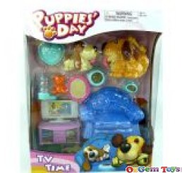 Puppies Day TV Time Playset