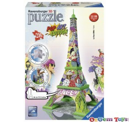 Ravensburger 216 Piece 3D Puzzle Eiffel Tower Pop Art Edition