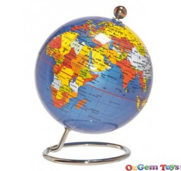 Small 10cm Blue Desk Globe