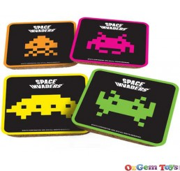 Space Invaders coasters 4 in a pack
