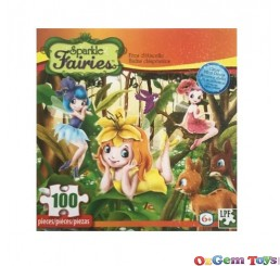 Sparkle Fairies Forest Fairies 100 Piece Jigsaw Puzzle