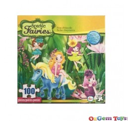 Sparkle Fairies Pond Fairies 100 Piece Jigsaw Puzzle