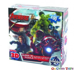Super 3D Marvel Avengers Age of Ultron Jigsaw Puzzle 100 Piece