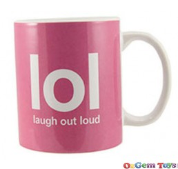 Text Speak Mug LOL Laugh Out Loud