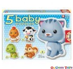 Animals 5 Baby Puzzles Educa