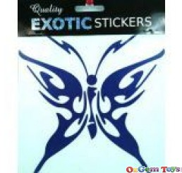 Car Decal Sticker Metallic Blue Butterfly