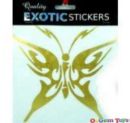 Car Decal Metallic Gold Butterfly