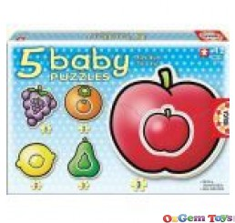 Fruits 5 Baby Puzzles Educa