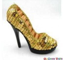 Gold Tone Shoe Ring Jewellery Holder Display Stand