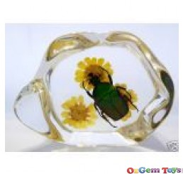 Green Rose Chafer Beetle Desk Ornament Resin