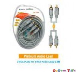 Heavy Duty 2RCA Plugs to 2RCA Plugs Cable 2.5M