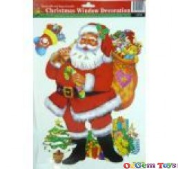 Christmas Window Decoration Santa stickers
