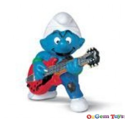 Schleich Smurf Lead Guitar Player PVC Toy Figure