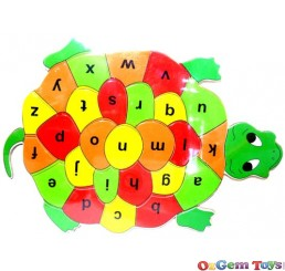 Tortoise Shaped Wooden Jigsaw Puzzle