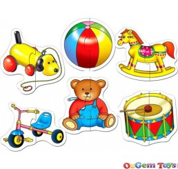 Toy Shaped Jigsaw Puzzles 6 Set