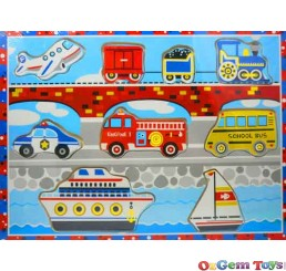 Wooden Jigsaw Puzzle Transport