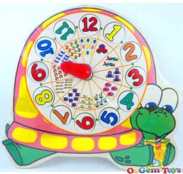 Tortoise Shaped Clock Wooden Jigsaw Puzzle