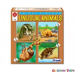 Unusual Animals Animal Kingdom Frank 4 in 1 Jigsaw Puzzle