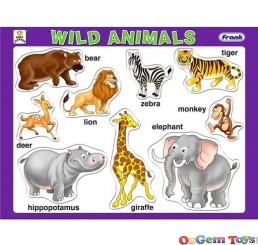 Wild Animals Tray Frank Jigsaw Puzzle