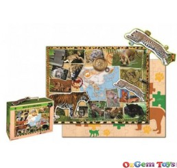 WWF Wild Cats 50 Piece Floor Puzzle
